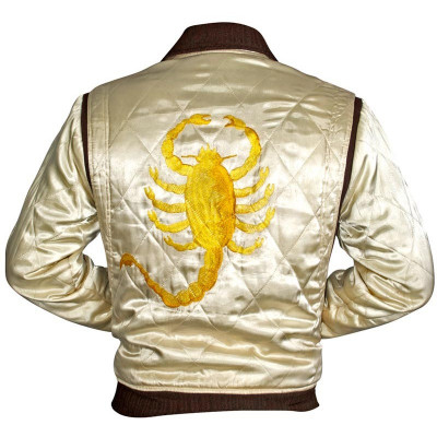 Ryan Gosling Drive Scorpion Satin Jacket