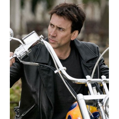 Ghost Rider Nicolas Cage Leather Jacket