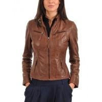 Genuine Lambskin Womens Motorcycle Leather Jacket
