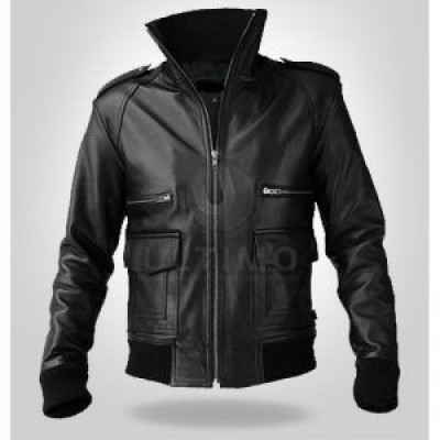 Dexter Stylish Black Leather Jacket