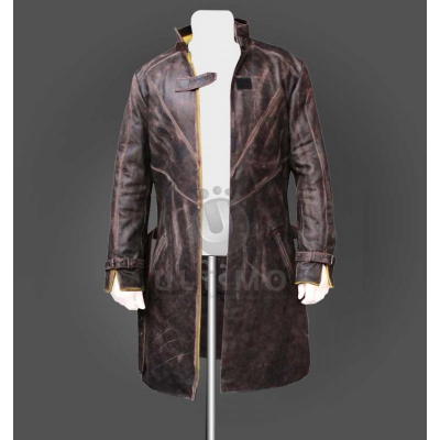 Aiden Pearce Gamers Leather Trench Coat For Mens