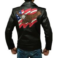 American Eagle Slim Fit Black Leather Jacket