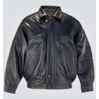 Gents Black Blouson Bomber Jacket