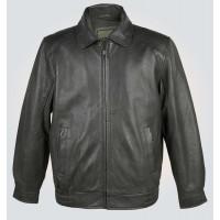 Grey Stylish Leather Blouson Jacket