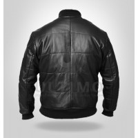 Men's Black Bomber Genuine Leather Jacket