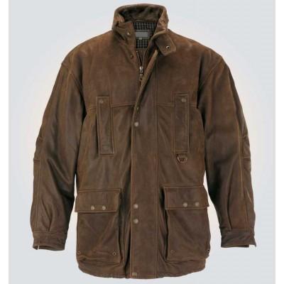 Brown Stylish Leather Coat