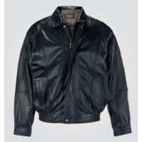 Black Bomber Stylish Leather Jacket