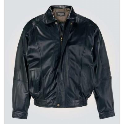 Black Bomber Stylish Leather Jacket
