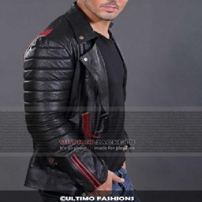 Valentine (Ryan Ghosling) Black Slim Fit Leather Jacket