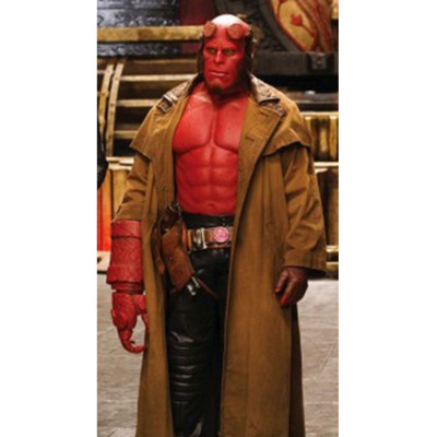 The HellBoy Leather Duster Leather Coat