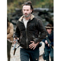 Walking Dead Season 4 Rick Grimes Leather Jacket