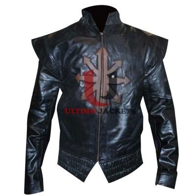 Three Musketeers D'Artagnan Black Leather Jacket