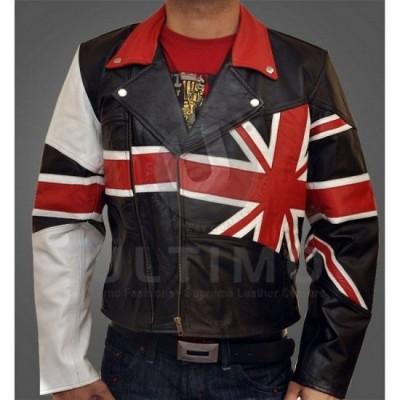 Flag British Leather Jacket