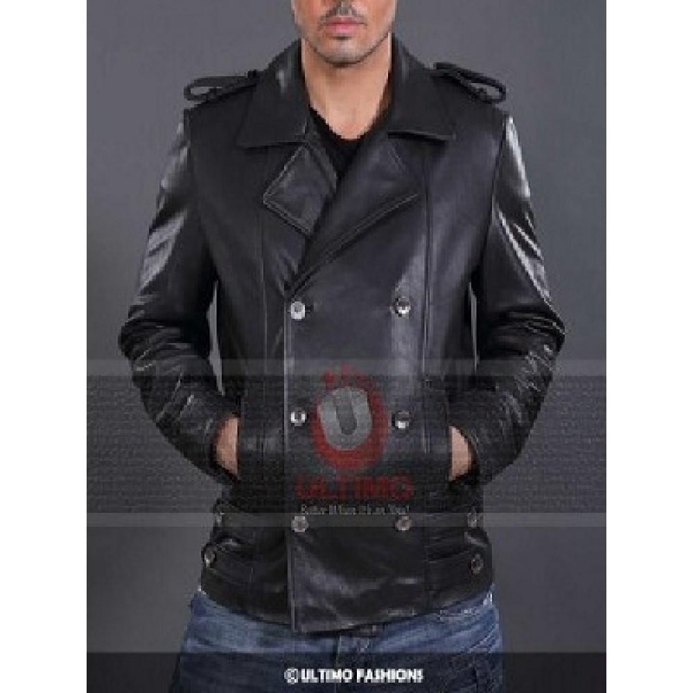 German Naval Military Personal UBoat Black Leather Jacket
