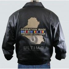Iraqi Black Leather Jacket