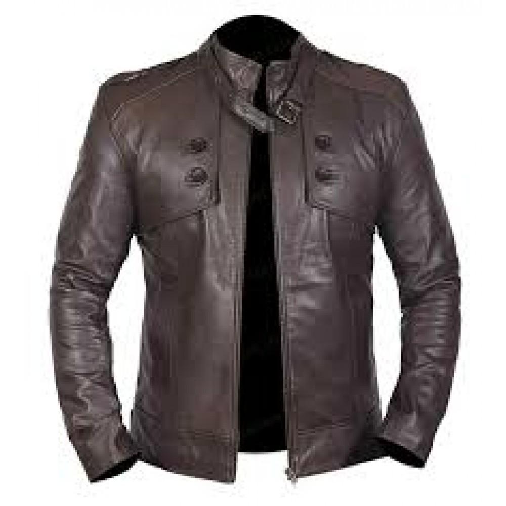 Men's Brown Bomber Genuine Leather Jacket