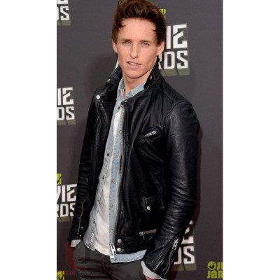 MTV Movie Awards 2014 Eddie Redmayne Leather Jacket
