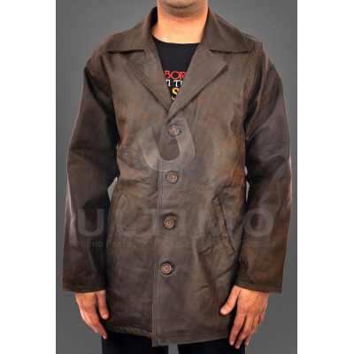 Brown Distressed Dean Winchester Leather Jacket