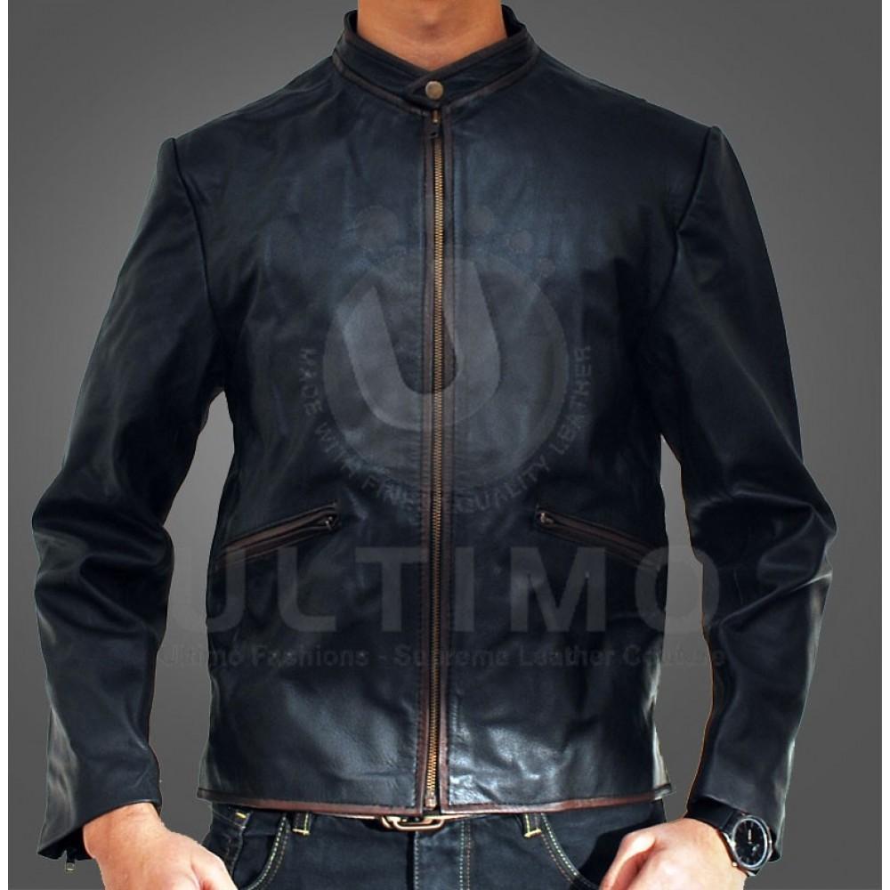 Tron Legacy (GARRETT HEDLUND) Classical Black Leather Jacket