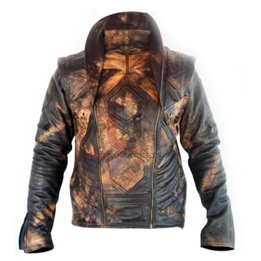 Flower of Life Canvas King Leather Jacket