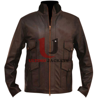Real Casino Royale James Bond Leather Jacket