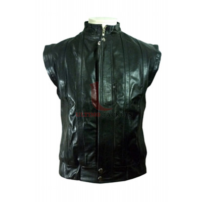 Hancock Style Will Smith Leather Vest Jacket