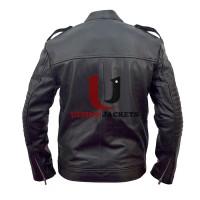 Iron Man 3 Robert Downey (Tony Stark) Black Leather Jacket