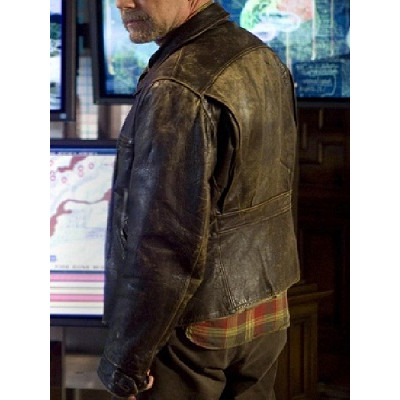 Movie Surrogates Bruce Willis (Tom Greer) Leather Jacket