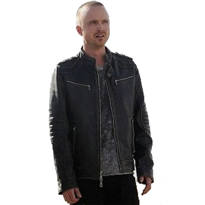 Aaron Paul Season 5 Breaking Bad Slim-fit Leather Jacket