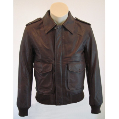 Classic Slim-fit Leather Jacket
