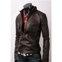 Slim-fit Dark Brown Jacket