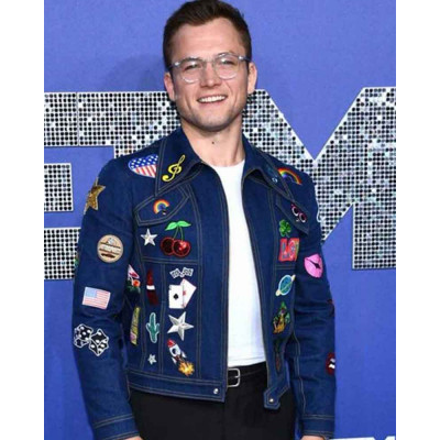Taron Egerton Rocketman Denim Blue Jacket
