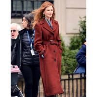 The Undoing Nicole Kidman Brown Wool Coat