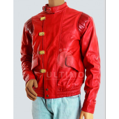 Vintage Akira Capsule Biker Red Leather Jacket