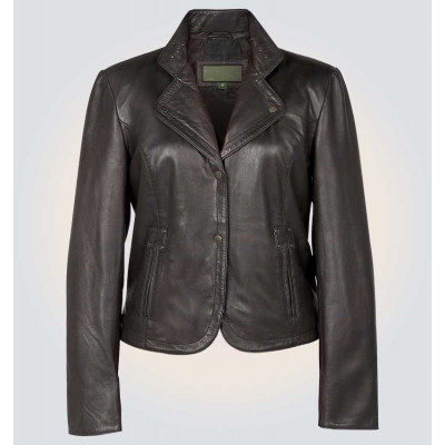 Women's Alice Black High Quality Genuine Leather Jacket