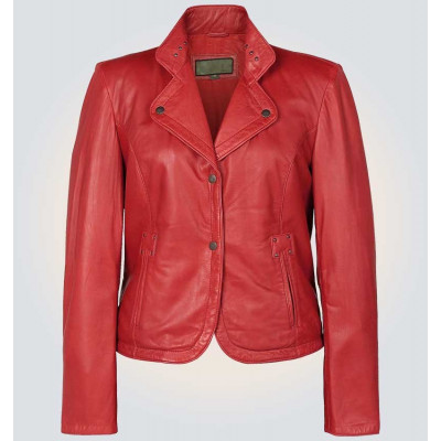 Women's Alice Red High Quality Real Leather Jacket