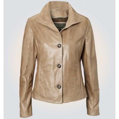 Ruby Light Brown Leather Blazer