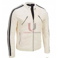 Need For Speed Aaron Paul Movie White Leather Jacket
