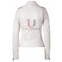 Ashes To Ashes (Alex Drake) White Leather Jacket