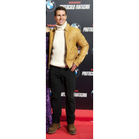 Tom Cruise Camel Colour Leather Jacket
