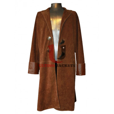 Brown Malcolm Reynolds Serenity Leather Long Coat
