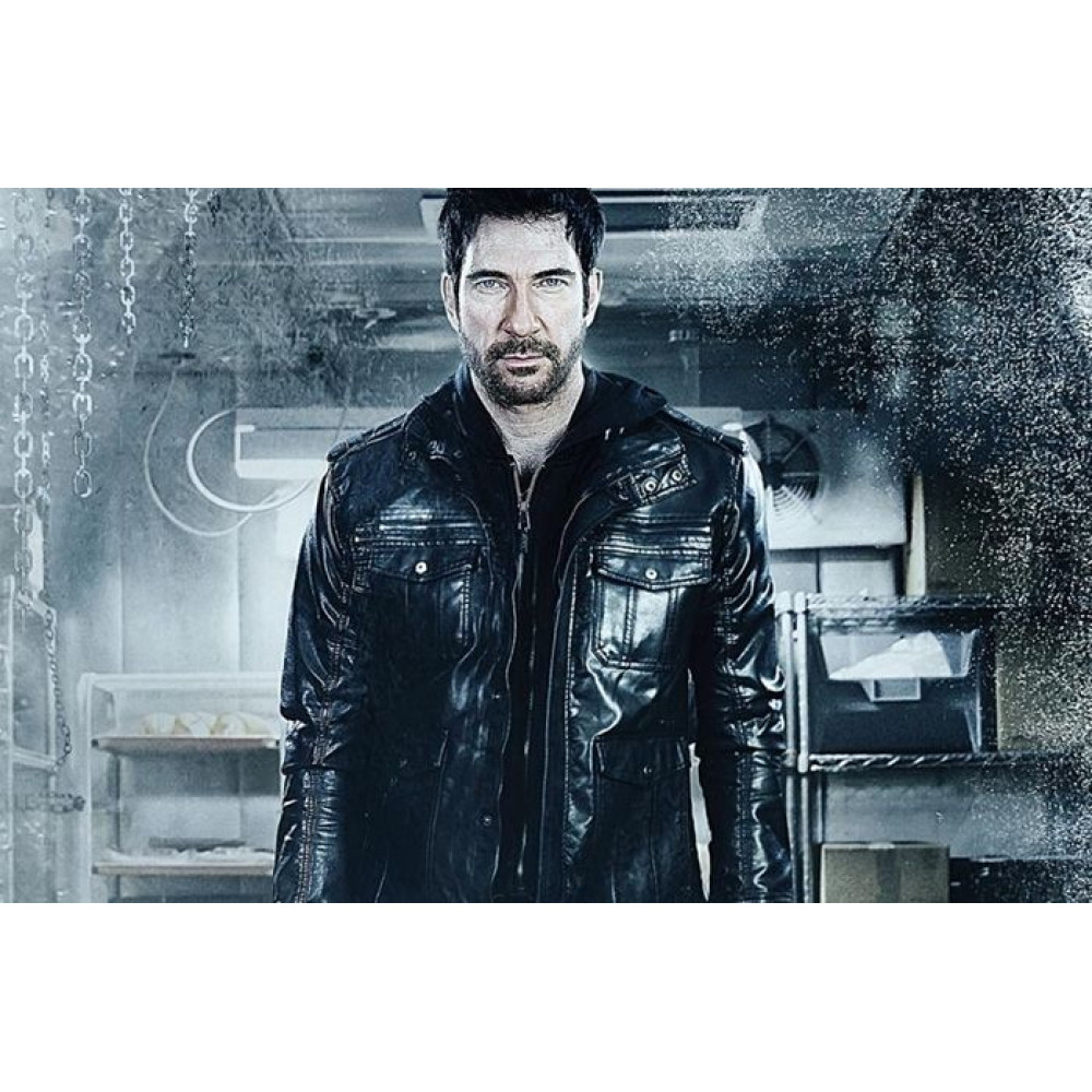 Dylan McDermott Movie Freezer 2014 Black Bomber Leather Jacket