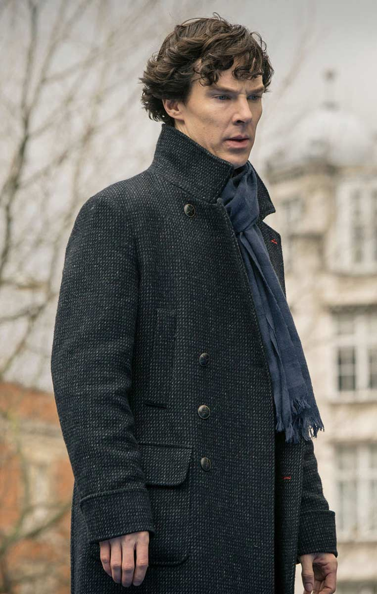 Sherlock Holmes Leather Coat For Sale L Mens Leather Coats