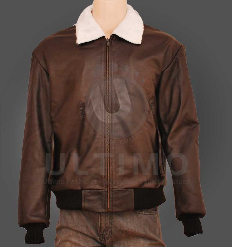 Brown Bomber Genuine Leather Jacket