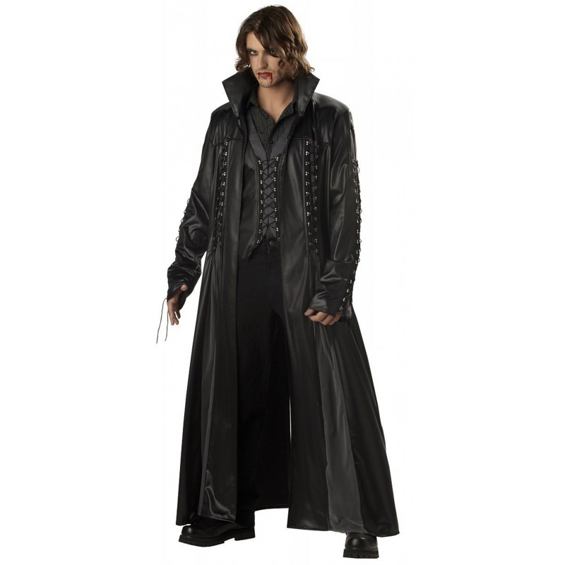 California Baron Von Bloodshed Black Leather Long Coat For