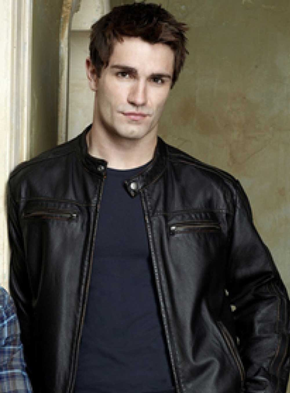 Aidan Waite Being Human (Sam Witwer) Leather Jacket