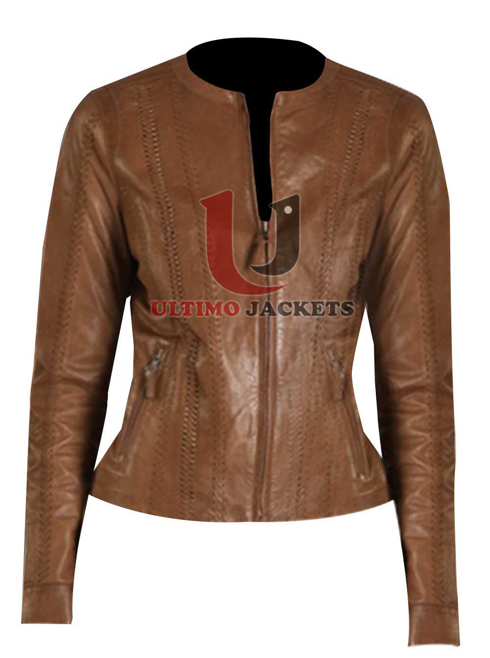 Leather Hooded Jacket Women S