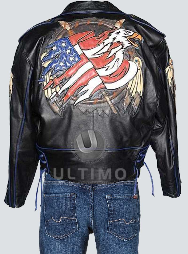 Leather jackets with designs