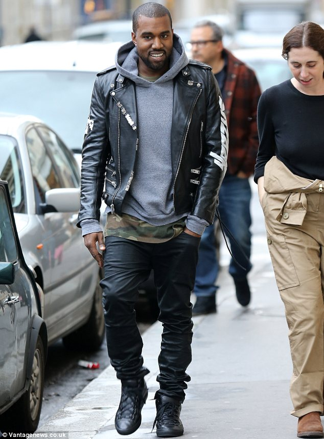 Kanye West Wears Motorcycle Jacket