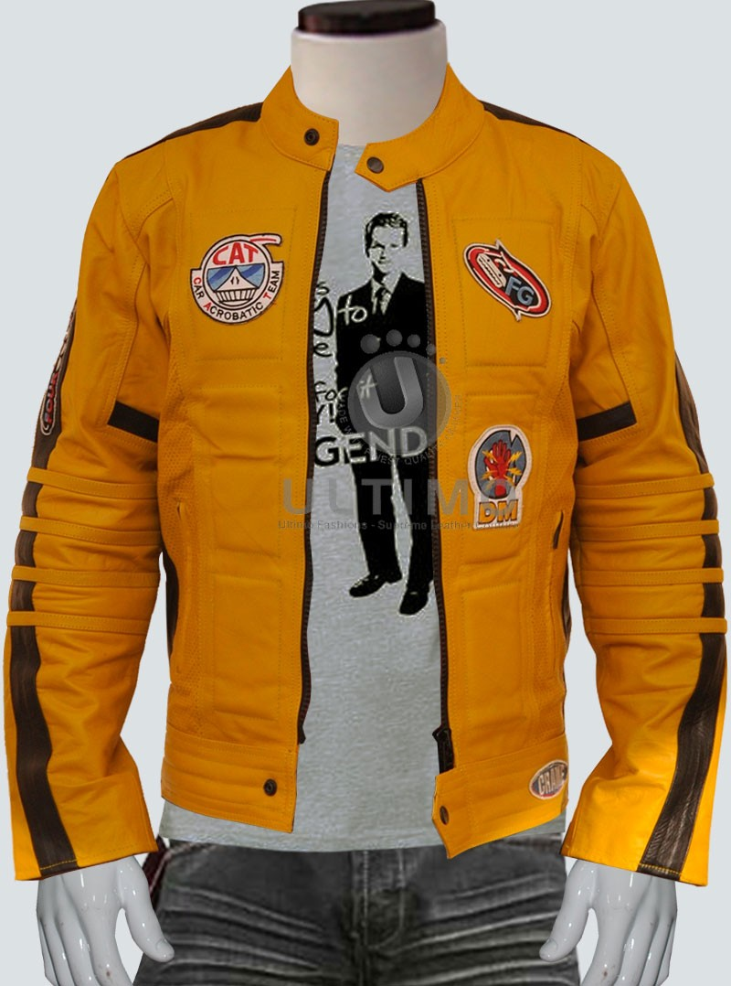 Leather Jacket Kill Bill For Men Motorcycle